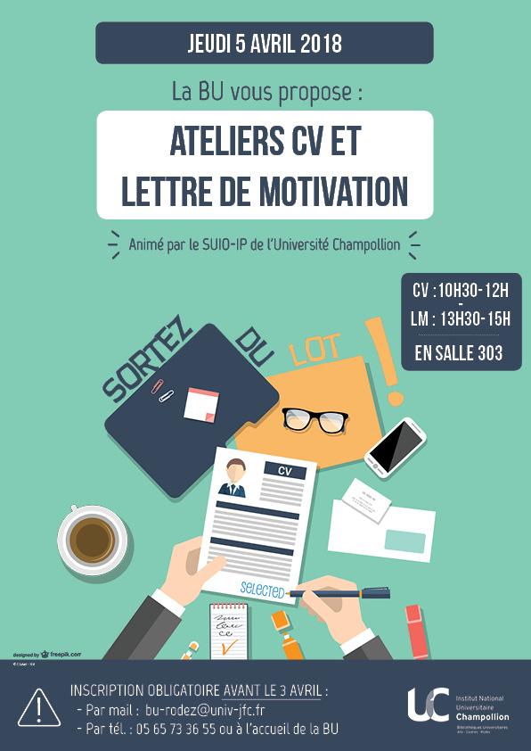 ateliers cv et lettre de motivation